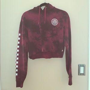 maroon vans cropped hoodie